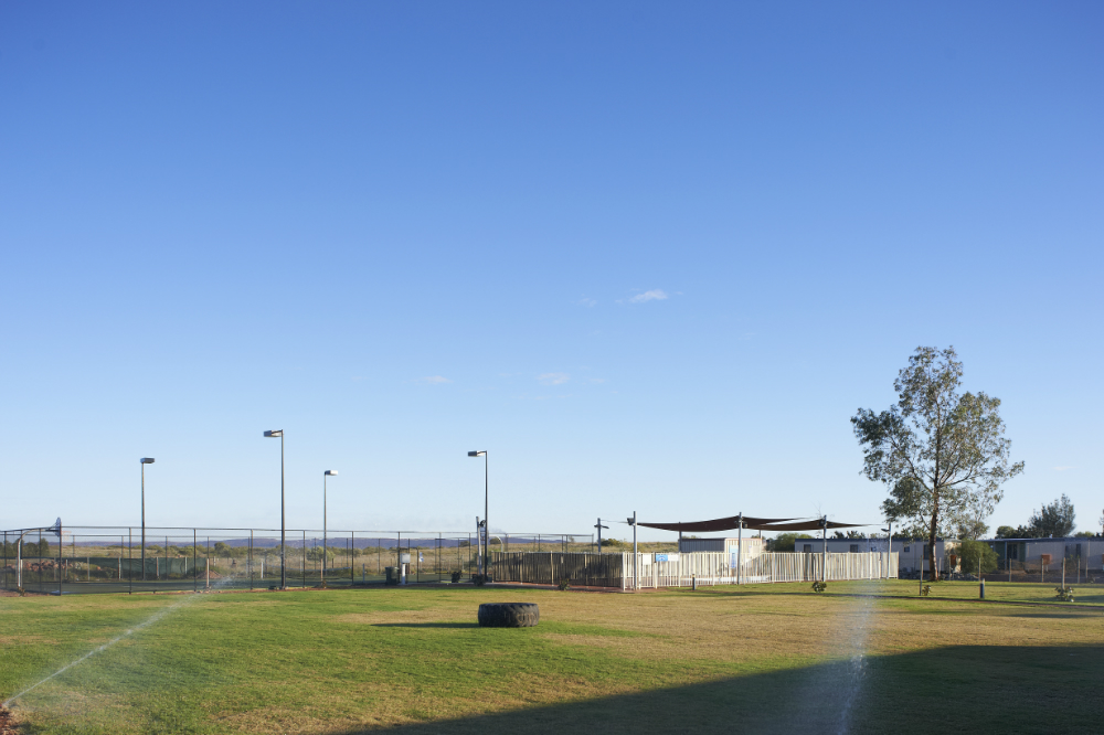 Searipple amenities grassed area for sports and basketball court
